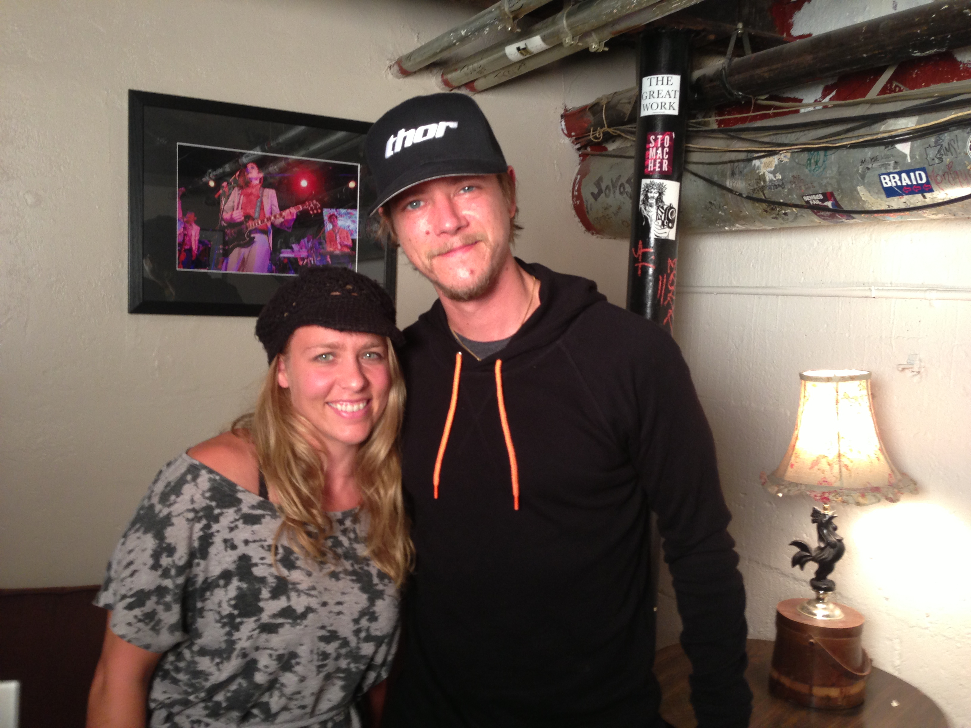 Me with Paul Banks, Backstage at Slim's