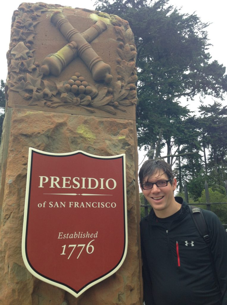 Presidio - a fortified location since 1776, when Spain established it to gain a foothold on Alta California and the San Francisco Bay. JCrew posing near the oldest footpath/trail in San Francisco, Lover's Lane in Presidio.
