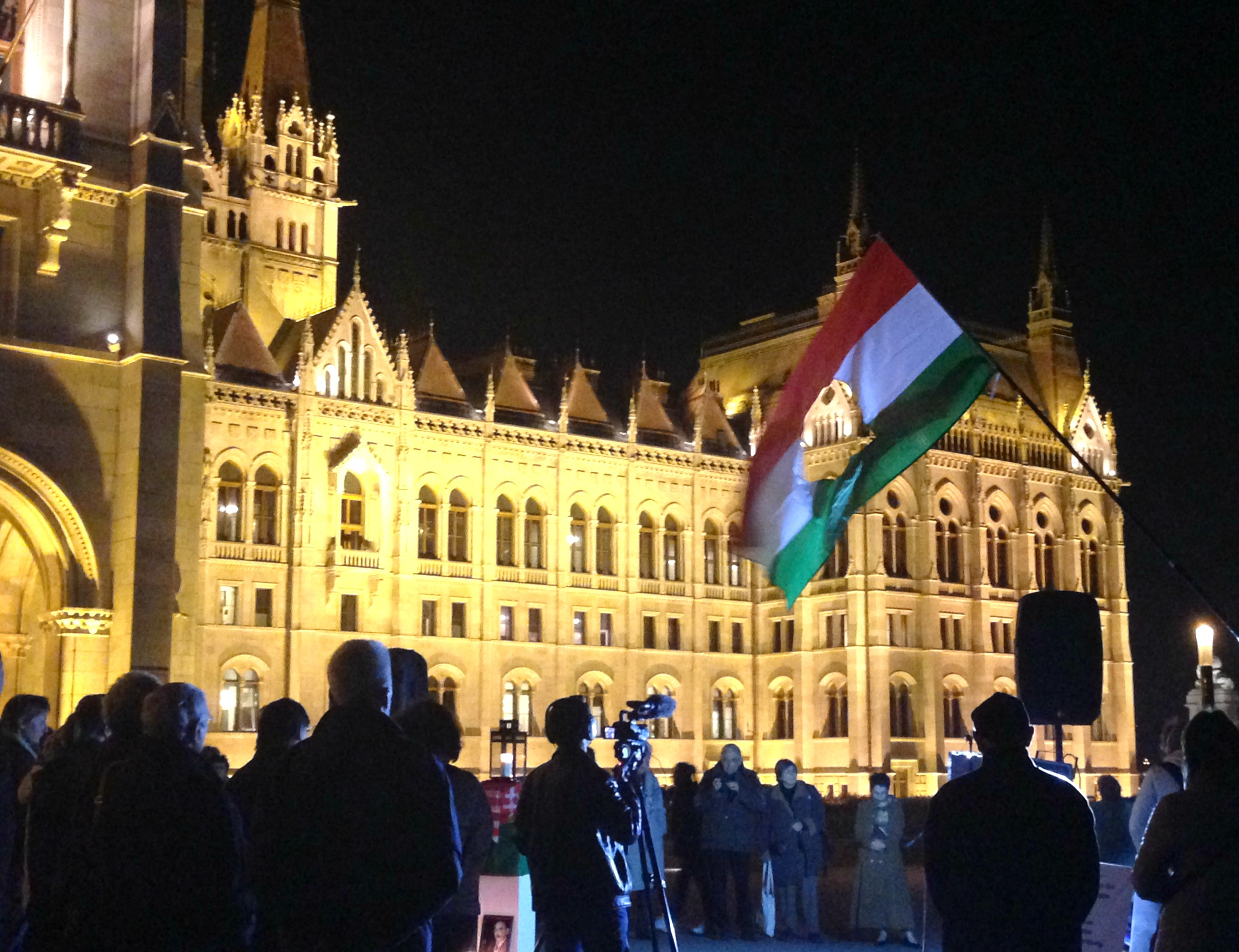 Protest in front of the Parliament
