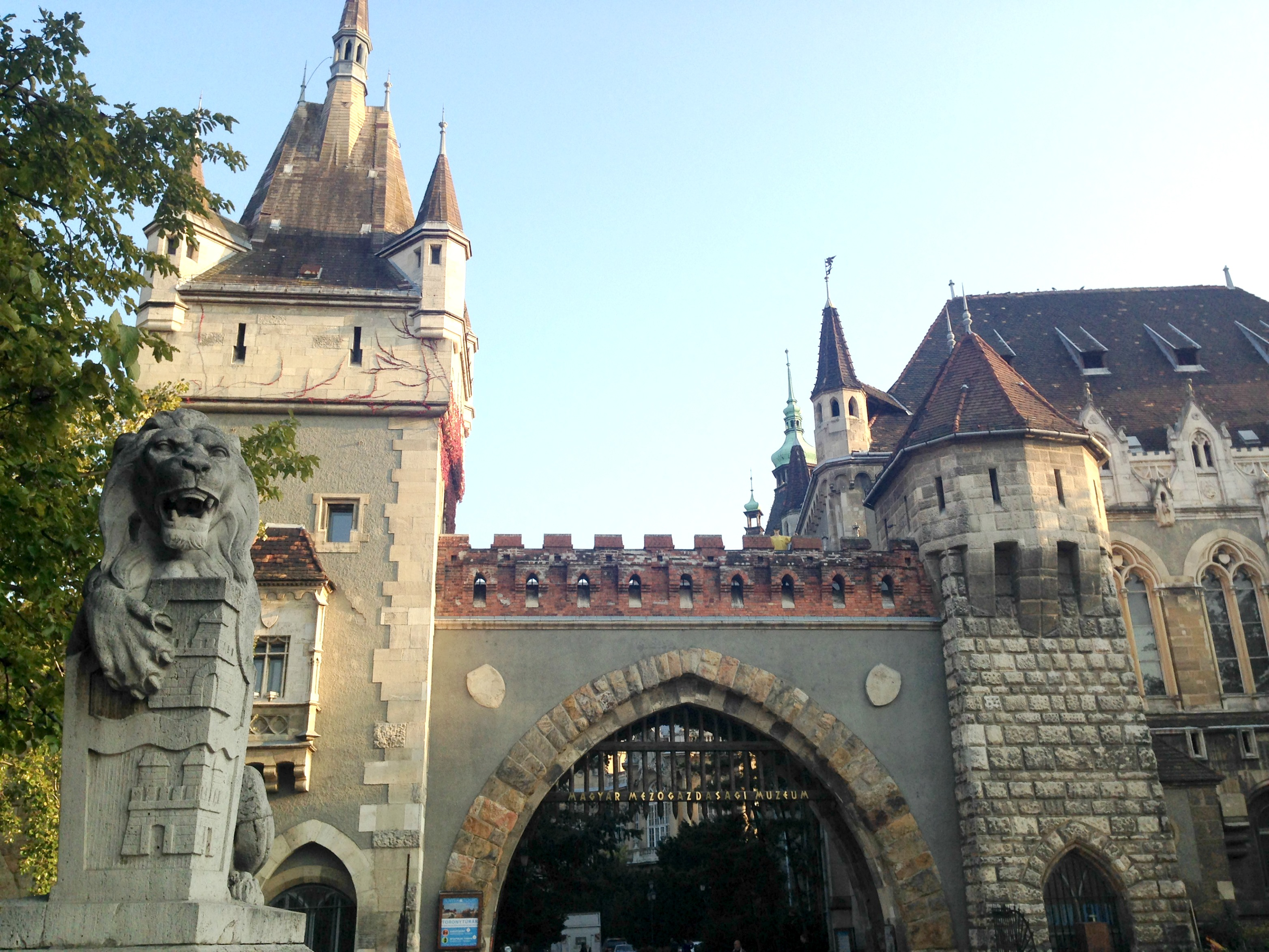 The Vajdahunyad Castle in City Park was built in 1896 as part of the Millennial Exhibition to celebrate Hungary's 1,000th year.